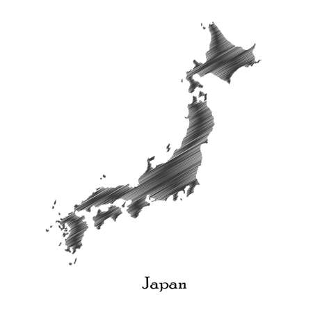 Japan map icon for your design Illustration