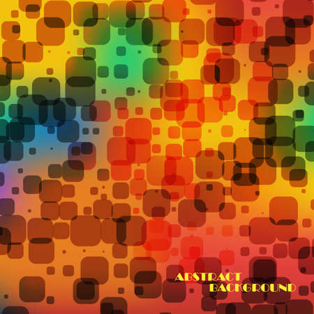 Abstract colorful  square background Illustration