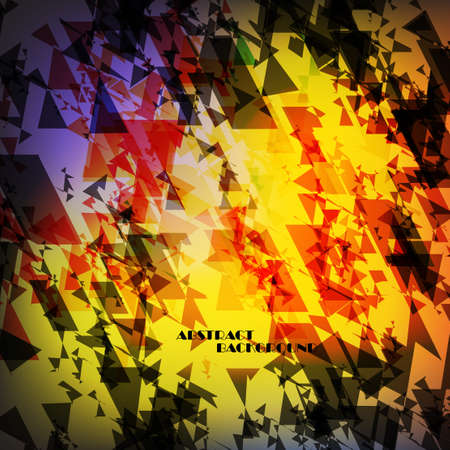 snippet: Abstract background with geometric motifs, vector art Illustration