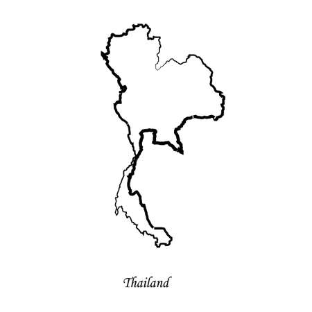 delineation: Map of Thailand for your design