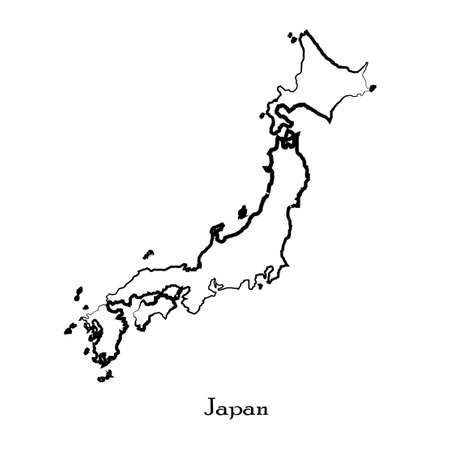 Map of Japan for your design