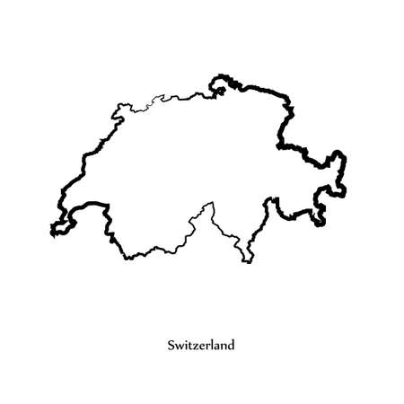 delineation: Switzerland map icon for your design Illustration