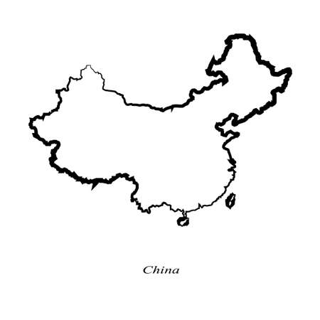 delineation: China map icon for your design