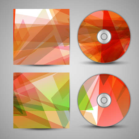 cd cover: Vector cd cover  set for your design Illustration