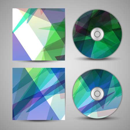 Vector cd cover  set for your design Illustration