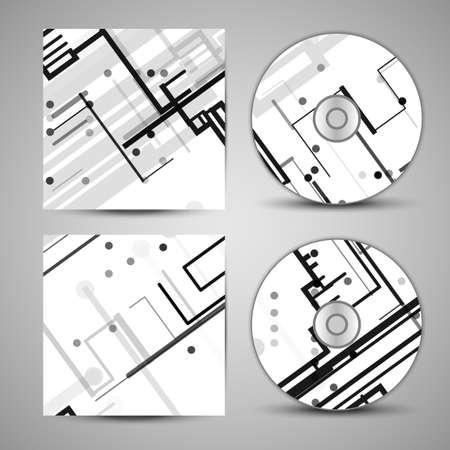 chipset: Vector cd cover  set for your design Illustration