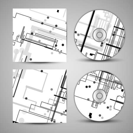 semiconductor: Vector cd cover  set for your design Illustration