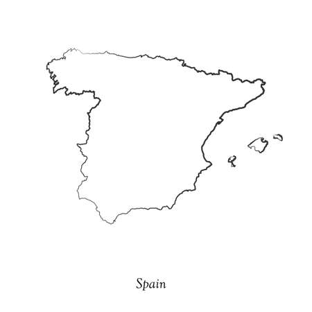 delineation: Map of Spain  for your design