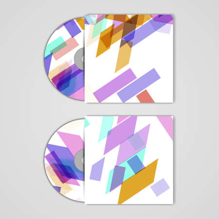 cd rom: Vector cd cover  set for your design Illustration