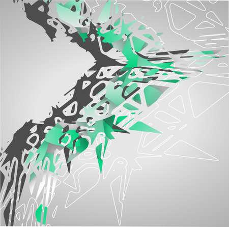 Futuristic background, geometric illustration.