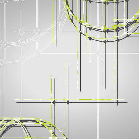 bends: Abstract circles background