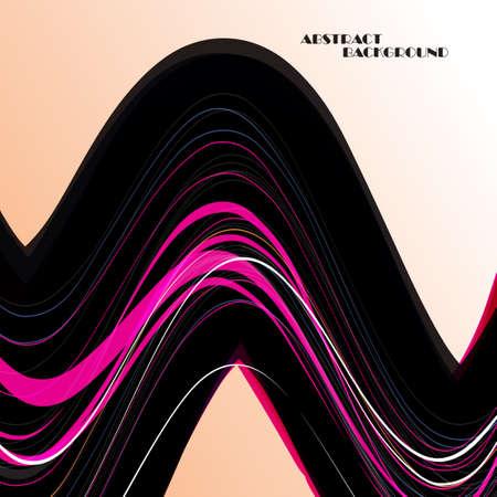light streaks: Abstract color wave background Illustration