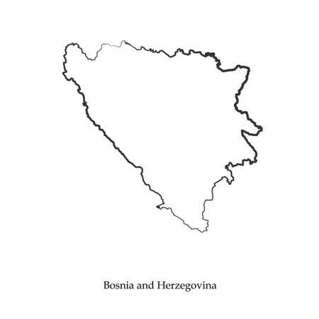 serb: Map of Bosnia and Herzegovina concept Illustration. Illustration