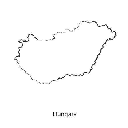 delineation: Map of Hungary Illustration. Illustration