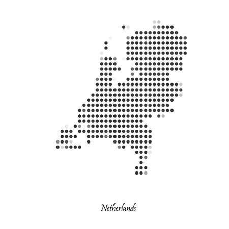netherlands: Dotted map of Netherlands for your design, concept Illustration. Illustration