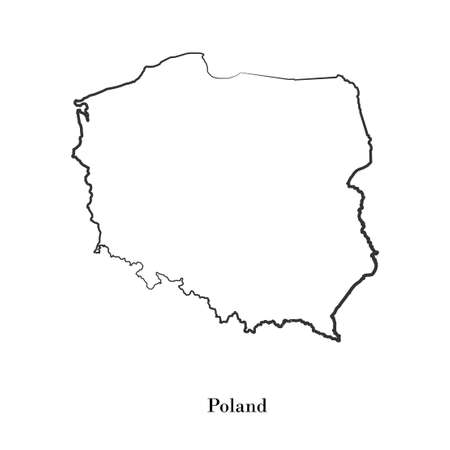 delineation: Map of Poland for your design, concept Illustration.