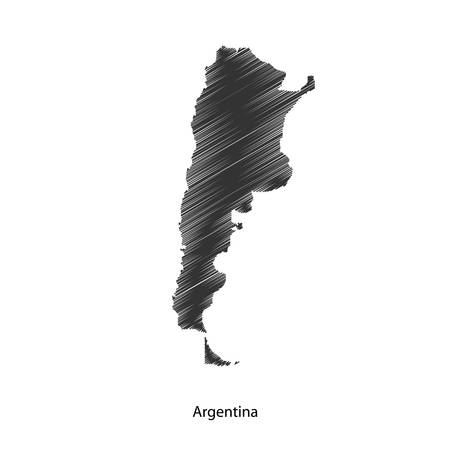 argentina map: Argentina map icon for your design, concept Illustration.
