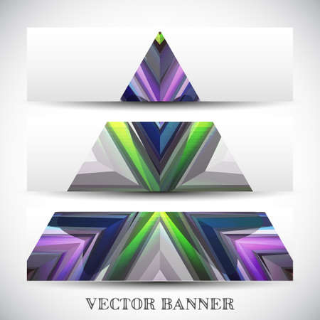 technical background: Set of abstract banners, colorful art Illustration