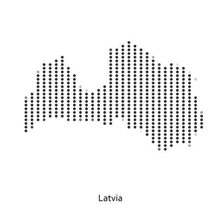 creative arts: Dotted map of Latvia for your design, concept Illustration.