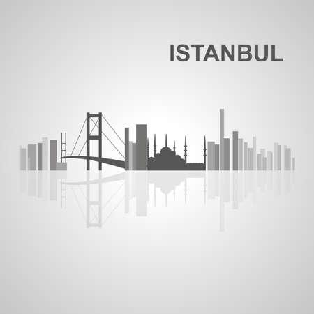 turkey istanbul: Istanbul skyline  for your design, concept Illustration. Illustration