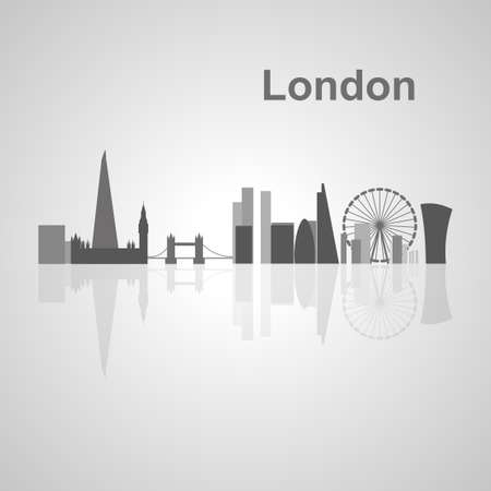 city of london: London skyline  for your design, concept Illustration.
