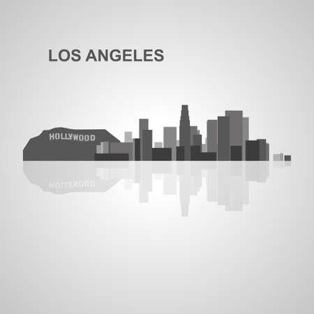 los angeles: Los Angeles skyline  for your design, concept Illustration. Illustration