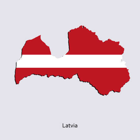 paraphernalia: Map of Latvia for your design, concept Illustration.
