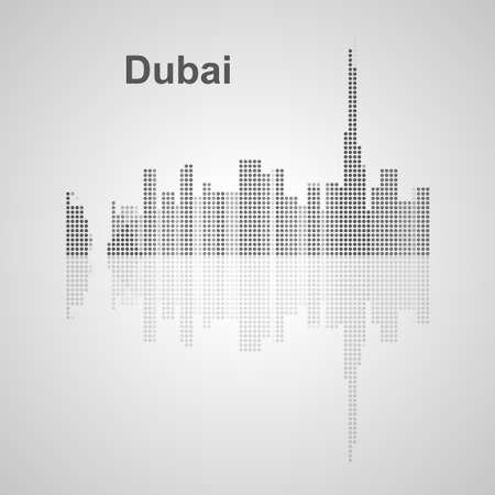 dubai: Dubai skyline  for your design, concept Illustration.