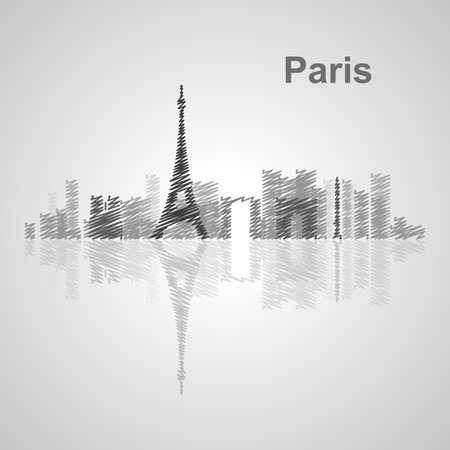 monumental: Paris skyline  for your design, concept Illustration.