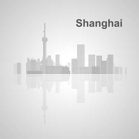 shanghai skyline: Shanghai skyline  for your design, concept Illustration. Illustration