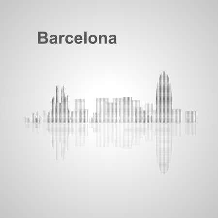 sagrada familia: Barcelona skyline  for your design, concept Illustration.