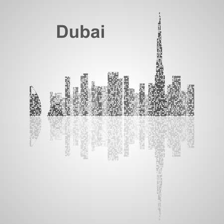Skyline di Dubai per il vostro disegno, concetto illustrazione. Archivio Fotografico - 47878287