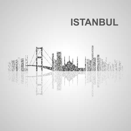 Istanbul skyline  for your design, concept Illustration. Ilustração