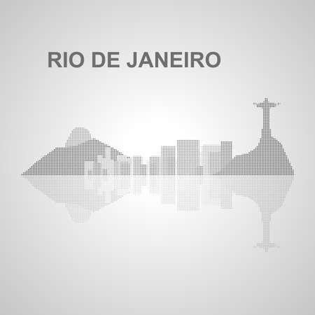 janeiro: Rio de Janeiro skyline  for your design, concept Illustration.
