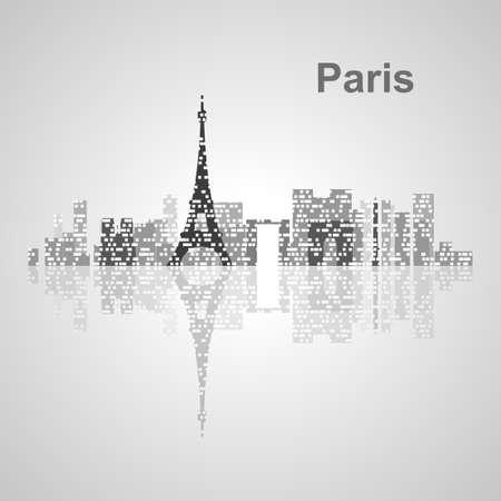 Paris skyline  for your design, concept Illustration.
