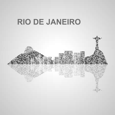 Rio de Janeiro orizzonte per il vostro disegno, concetto illustrazione. Archivio Fotografico - 48545911