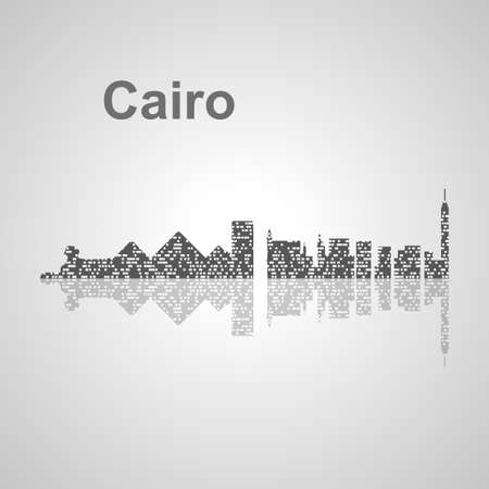 nile: Cairo  skyline  for your design, concept Illustration. Illustration