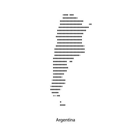 Dotted map of Argentina for your design, concept Illustration.