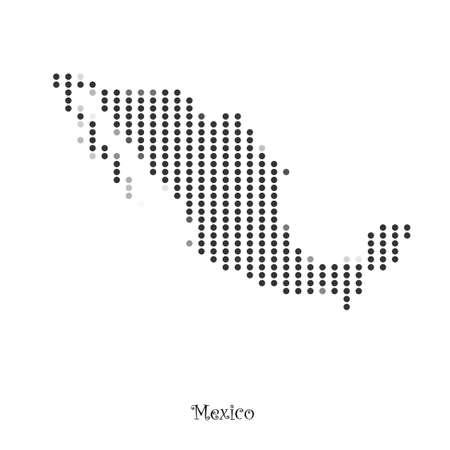 Mappa del Messico per la progettazione, il concetto di illustrazione. Archivio Fotografico - 48545912