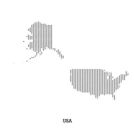 americas: Map of USA  for your design, concept Illustration.