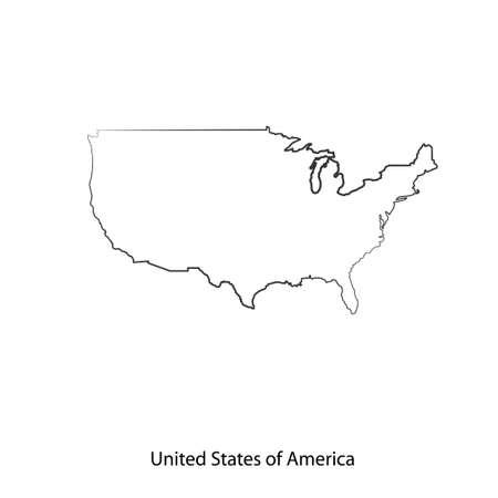 Mappa di Stati Uniti d'America per il vostro disegno, concetto illustrazione. Archivio Fotografico - 48545916