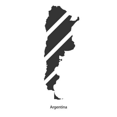Mappa di Argentina per il vostro disegno, concetto illustrazione. Archivio Fotografico - 49912312
