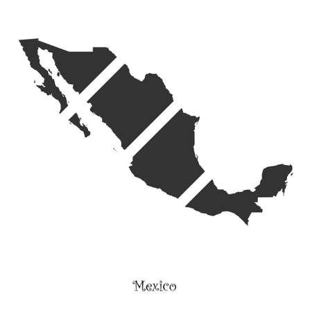 Mappa del Messico per la progettazione, il concetto di illustrazione. Archivio Fotografico - 49912313
