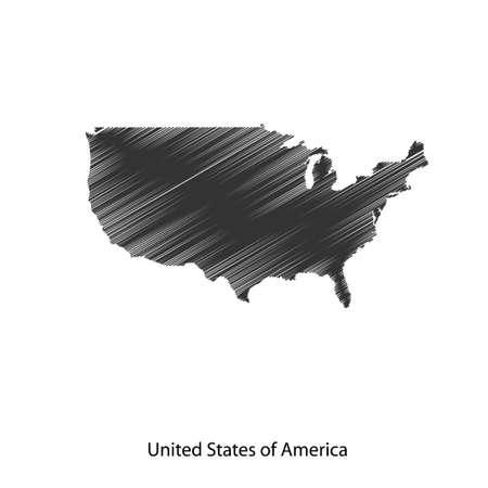 Mappa di Stati Uniti d'America per il vostro disegno, concetto illustrazione. Archivio Fotografico - 49912315