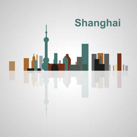 shanghai skyline: Shanghai skyline for your design, concept Illustration.