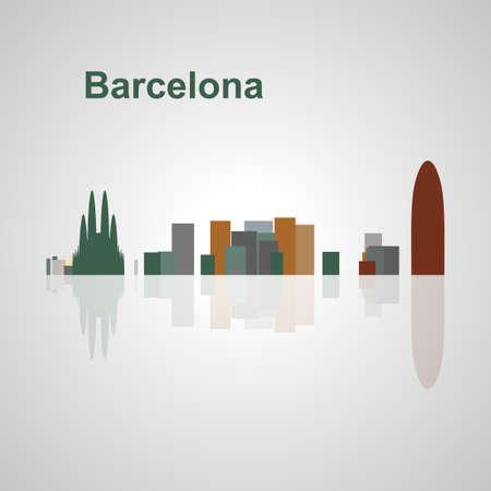 Skyline di Barcellona per il vostro disegno, concetto illustrazione. Archivio Fotografico - 49912318
