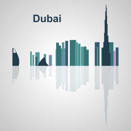 Skyline di Dubai per il vostro disegno, concetto illustrazione. Archivio Fotografico - 49912321