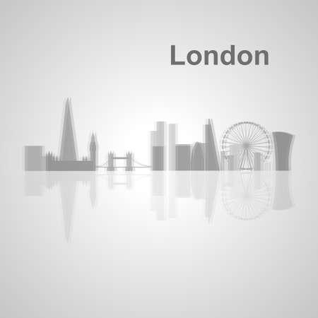 Skyline di Londra per il vostro disegno, concetto illustrazione. Archivio Fotografico - 49912322