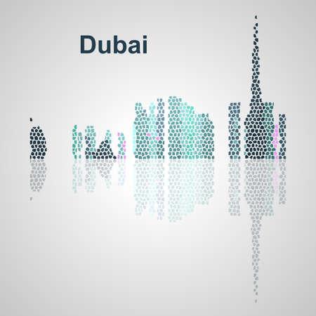 Skyline di Dubai per il vostro disegno, concetto illustrazione. Archivio Fotografico - 49912325