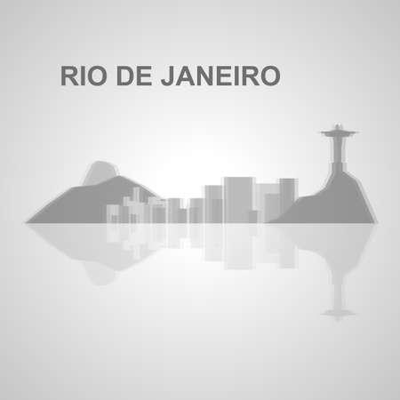 Skyline di Rio de Janeiro per il tuo design, concetto Illustrazione. Archivio Fotografico - 49912328